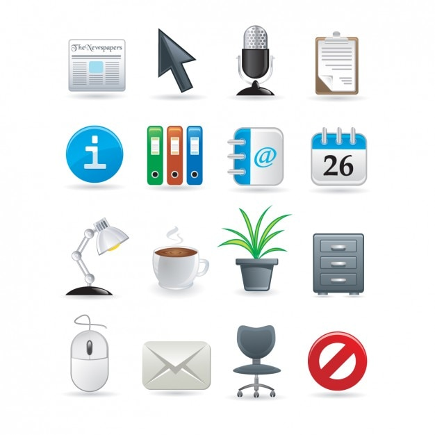 Office Icons Collection Vector Free Download