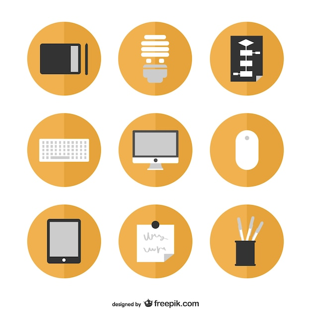 Office icons set Vector | Free Download