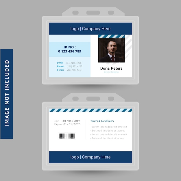 photo id card maker online personal secure identification card from