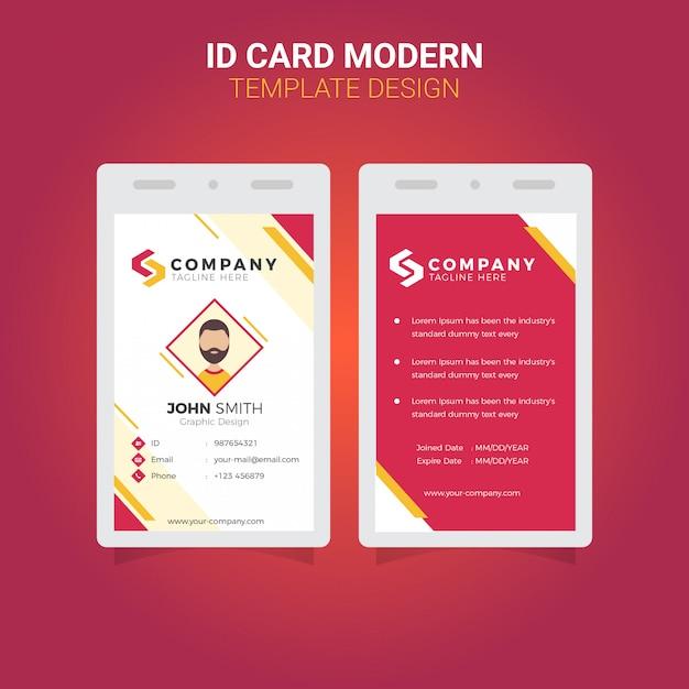 Office id card современный простой корпоративный бизнес шаблон Premium векторы