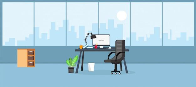 Office   illustration Premium Vector