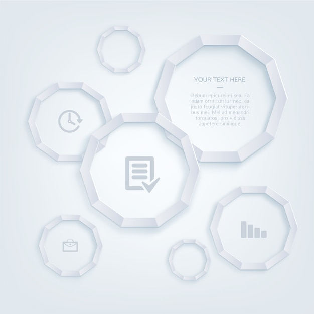 Office infography and icons template
