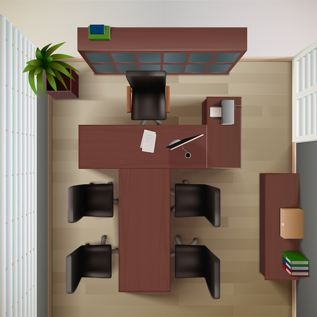 Office interior background Free Vector