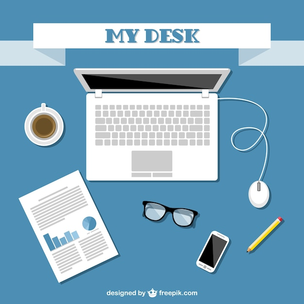 Office Kit Background Vector