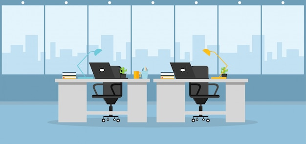 Office  learning and using a design vector illustration Premium Vector