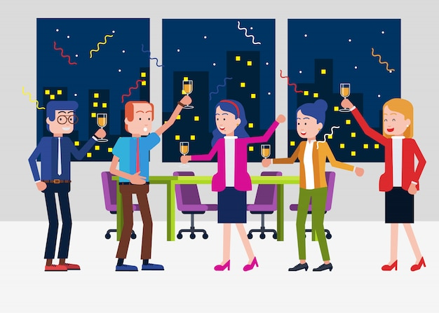 Office party time Premium Vector