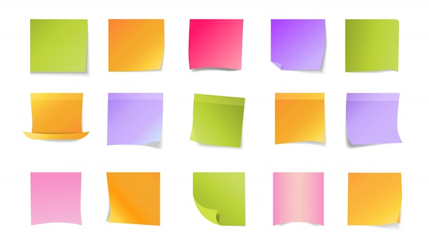 Office stickers set Free Vector