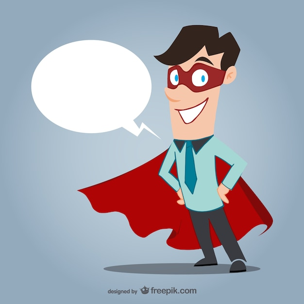 Office superhero Free Vector