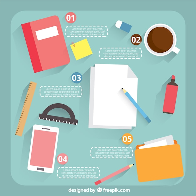Office supplies infographic