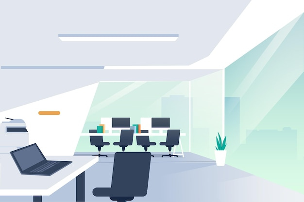 Office wallpaper theme Free Vector