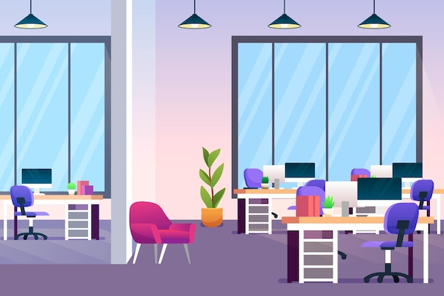 Office wallpaper Free Vector