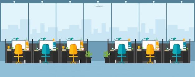 Office work in the company work using vector design Premium Vector