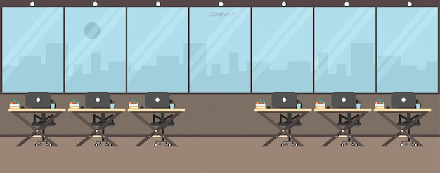 Office work in the company work using vector illustration Premium Vector