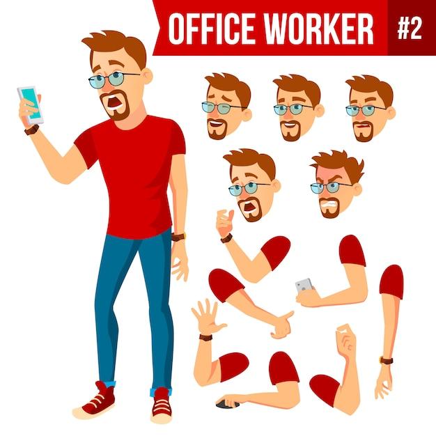 Office worker Premium Vector