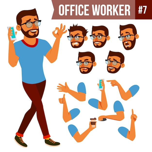 Office worker Premium Vector