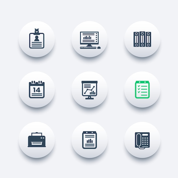 Набор иконок office Premium векторы