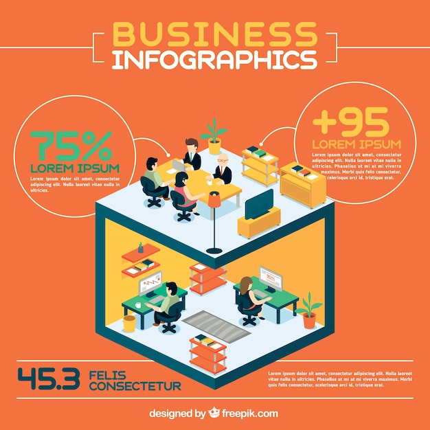 Offices business infography