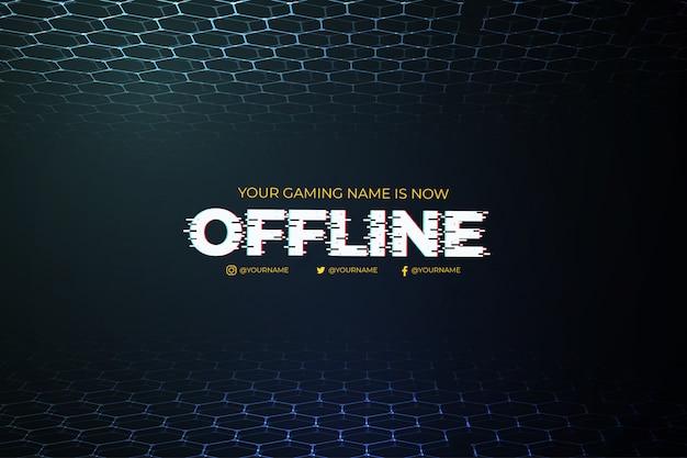 Современный offline twitch фон с абстрактным 3d фон шаблона Бесплатные векторы