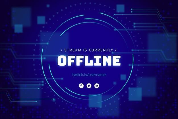 Banner twitch offline in stile gammer Vettore gratuito