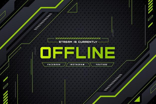 Offline twitch banner gammer style Free Vector
