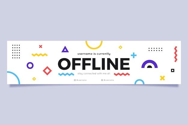 Оффлайн шаблон баннера Бесплатные векторы