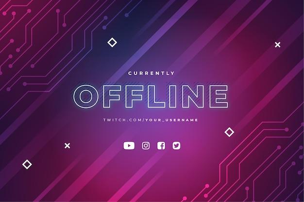 Offline twitch banner template Premium Vector
