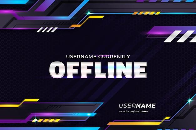 Offline twitch banner template Free Vector
