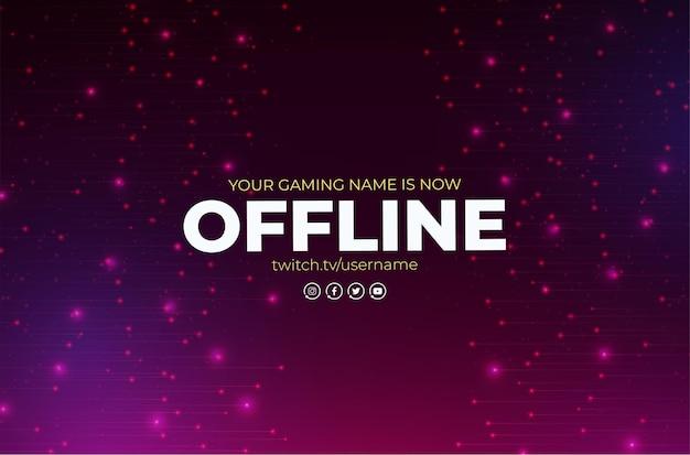 Banner twitch offline con modello di disegno astratto Vettore gratuito