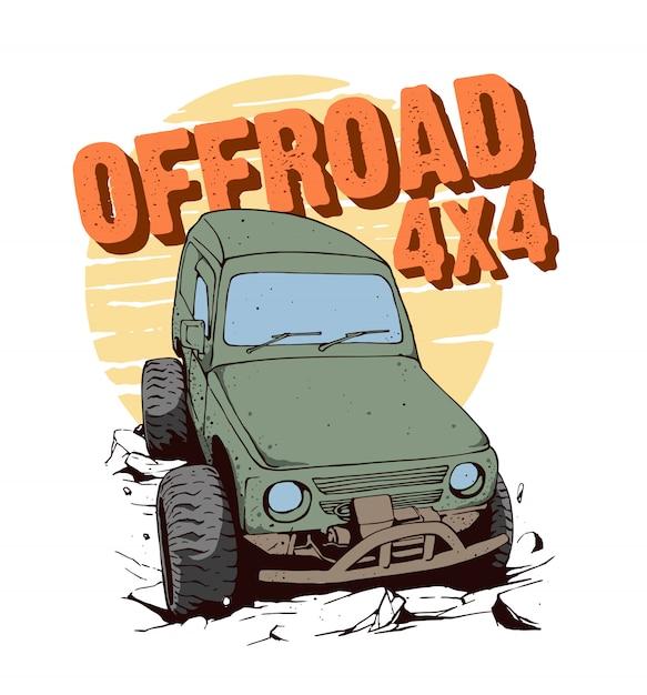 Offroad 4x4 for adventure Premium Vector