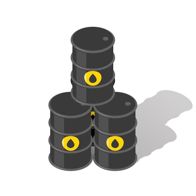 石油バレル。燃料産業、ピラミッドとガソリン、エネルギーガソリン、タンクメタル 無料ベクター