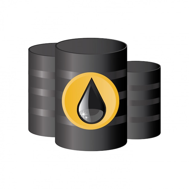 Oil in boxes Free Vector