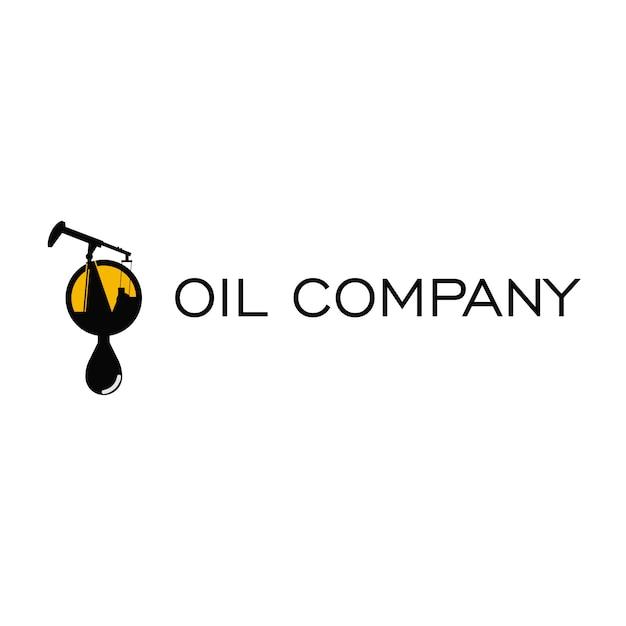 Oil company logo Premium Vector