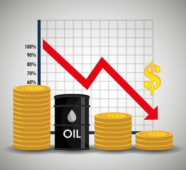 Oil industry design. Premium Vector