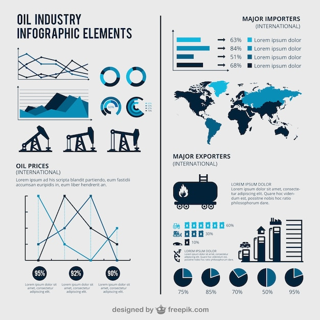 Oil Industry Infographic Vector Free Download