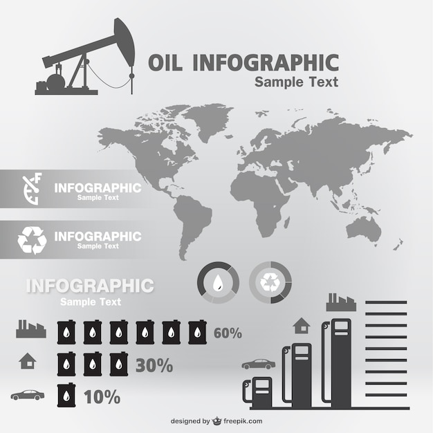 Oil infographic template Vector | Free Download