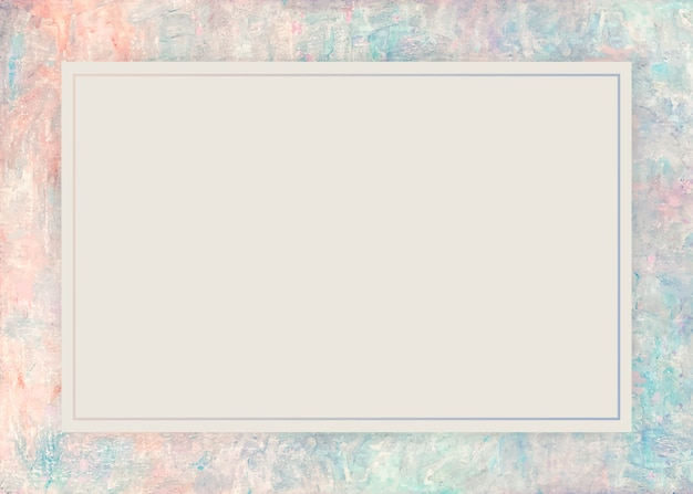 Oil painted frame background Free Vector