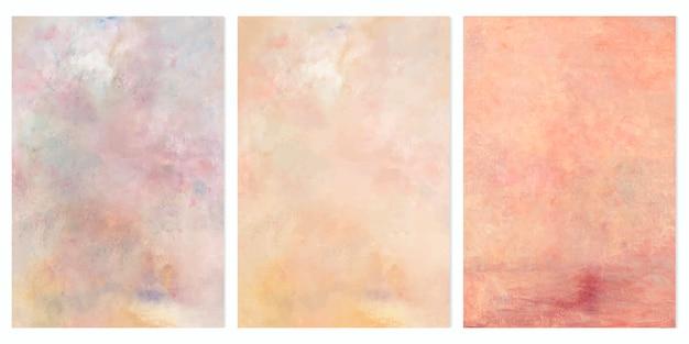 Oil paintings set Free Vector