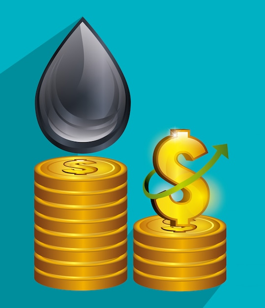 Oil prices and industry Free Vector