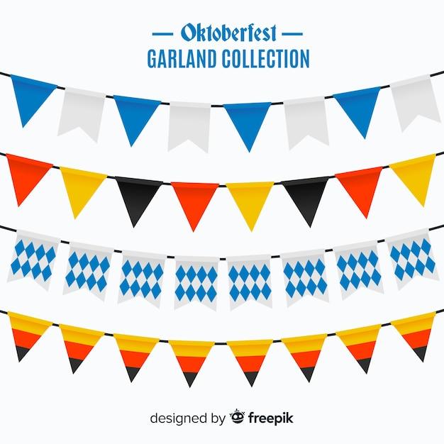 Oktobefest garlandsのオリジナルセット 無料ベクター