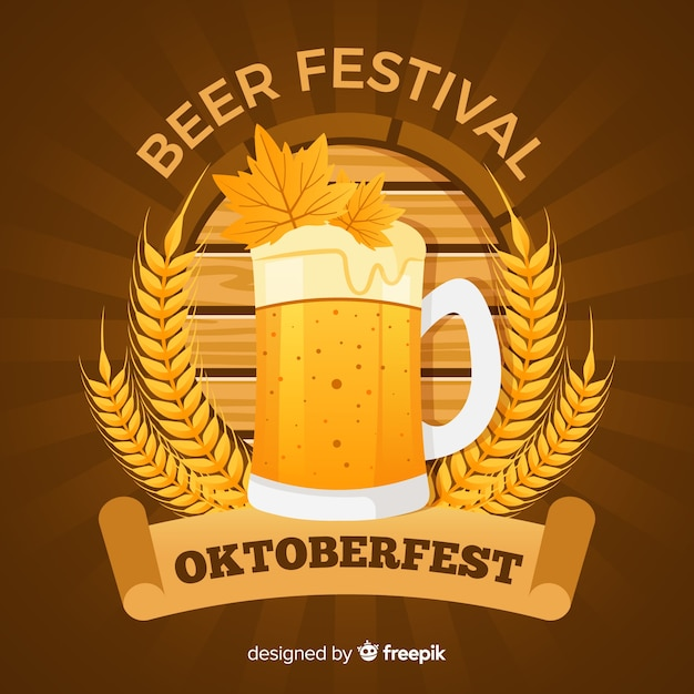 Oktoberfest background Free Vector