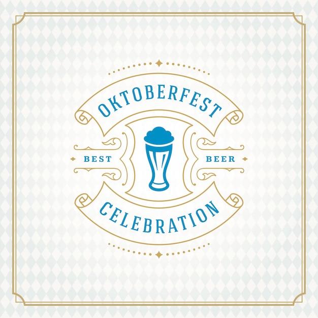 Oktoberfest background Premium Vector
