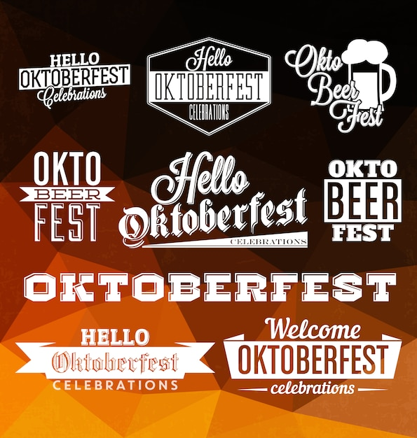 Oktoberfest badges collection