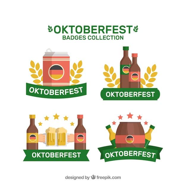 Oktoberfest badges with german flag