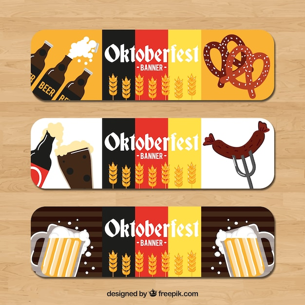 Oktoberfest banners with german colors