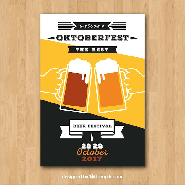 Oktoberfest brochure with beer toast