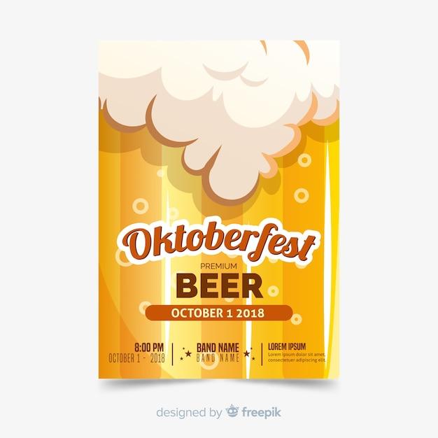 Oktoberfest brochure Free Vector