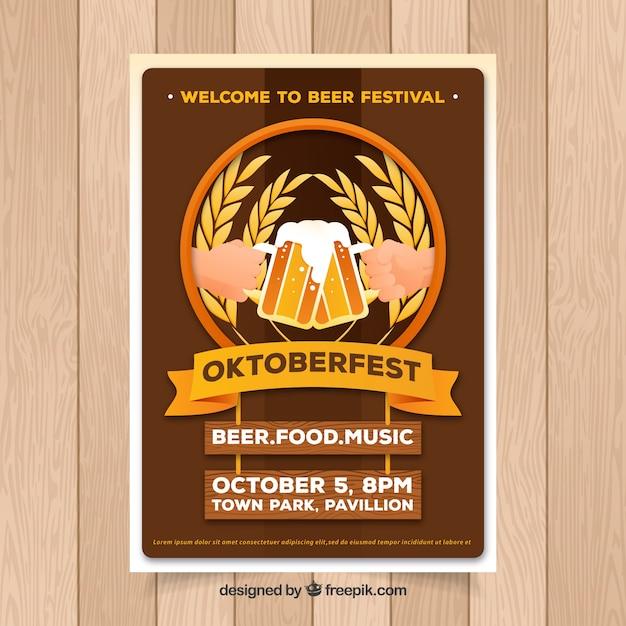 Oktoberfest, brown poster