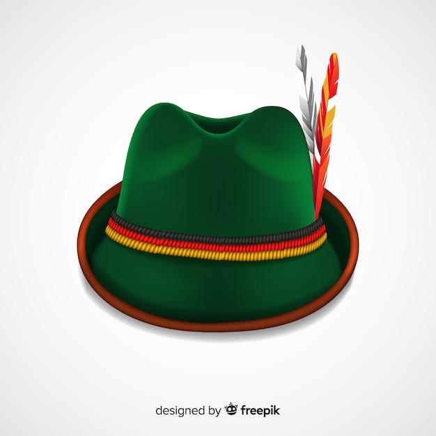Oktoberfest classic hat background Free Vector 615a2dd2c2f