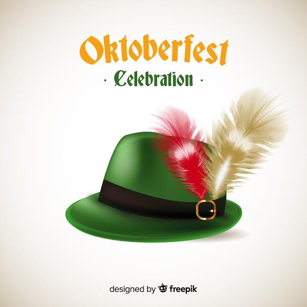 Oktoberfest classic tirol hat background Vector  8c5a8d83ee4