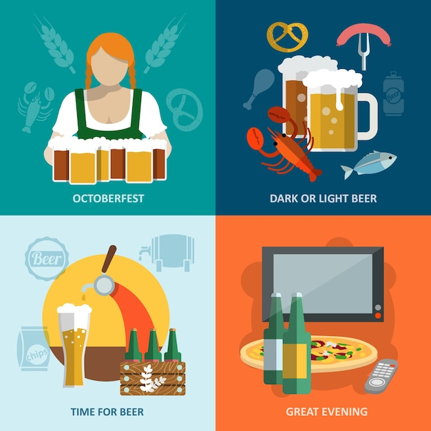 Oktoberfest designs collection Free Vector